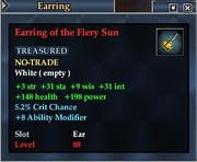 Earring of the Fiery Sun