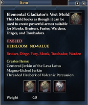 Elemental Gladiator's Vest Mold