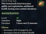 Fried frog leg