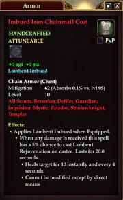 Imbued Iron Chainmail Coat