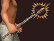 Imbued Iron Morning Star (Equipped)