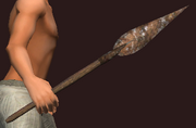 Imbued Iron Short Spear (Equipped)