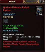 Quel'ule Defender Etched Bracers