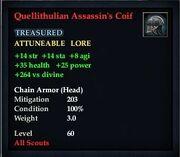 Quellithulian Assassin's Coif