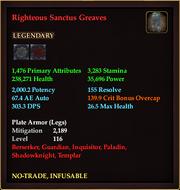 Righteous Sanctus Greaves