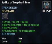 Spike of Inspired Fear