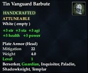 Tin Vanguard Barbute