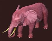 A Strange Elephant Plushie (Visible)