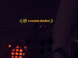 A swarm shadow