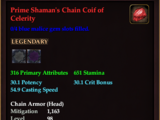 Prime Shaman's Chain Coif of Celerity (0 Gem)
