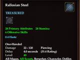 Rallosian Steel (Dagger)