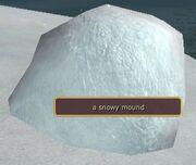 Snowy mound