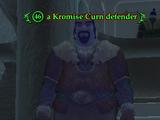 A Kromise Curn defender