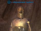 A shipwrecked explorer