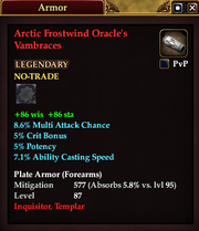 Arctic Frostwind Oracle's Vambraces