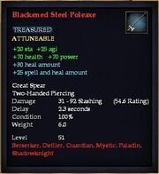 Blackened Steel Poleaxe