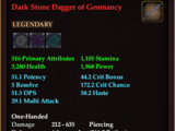 Dark Stone Dagger of Geomancy
