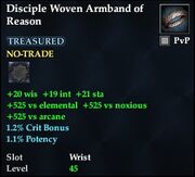 Disciple Woven Armband of Reason