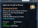 Quel'ule Scroll of Power
