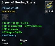 Signet of Flowing Rivers