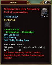 Witchdoctor's Dark Awakening Coif of Commanding