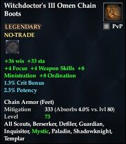Witchdoctor's Ill Omen Chain Boots