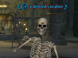 A defiled cavalier