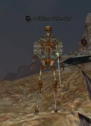 A fallen defender