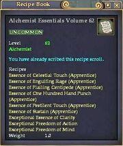 Alchemist Essentials Volume 62