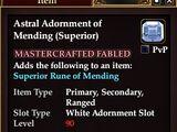 Astral Adornment of Mending (Superior)