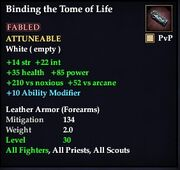 Binding the Tome of Life