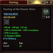 Earring of the Frozen Voice
