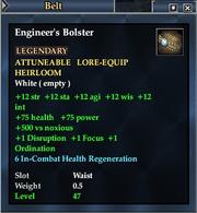 Engineer's Bolster