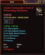 Gindan Commander's Sash of Rebounding Mutilation
