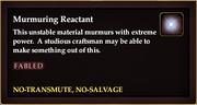 Murmuring Reactant