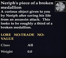 Neriph s piece of a broken medallion