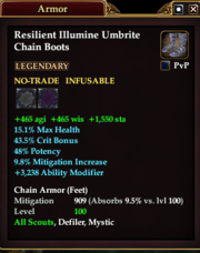 Resilient Illumine Umbrite Chain Boots