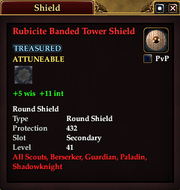 Rubicite Banded Tower Shield