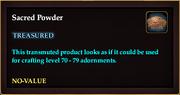 Sacred Powder
