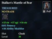 Stalker's Mantle of Fear