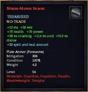Storm-blown bracer