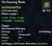 Tin Parrying Blade