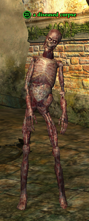 A diseased corpse