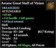 Arcane Great Staff of Vision