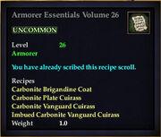 Armorer Essentials Volume 26