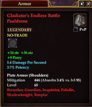 Gladiator's Endless Battle Pauldrons