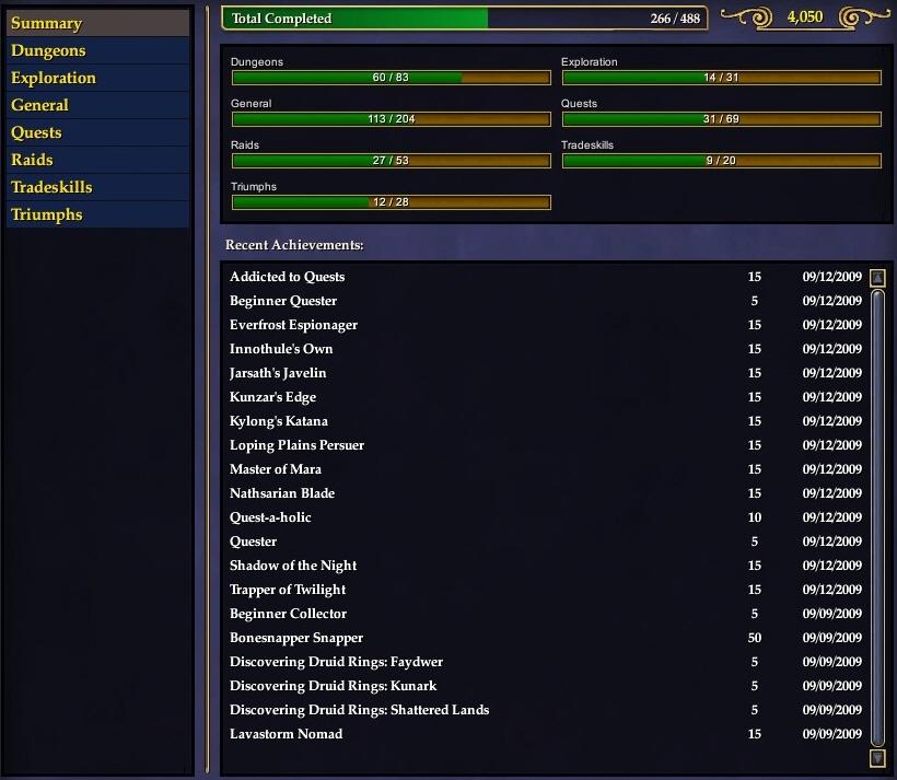 Forum:Achievements Quest Journal (LU53) | EverQuest 2 Wiki