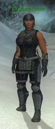 A Bitterwind pioneer (heroic) (barbarian)