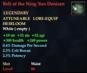 Belt of the Ning Yun Denizen