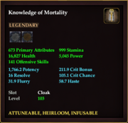 Knowledge of Mortality